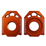 labwork 2Pcs 20mm CNC Rear Axle Spindle Chain Adjuster Blocks 125-530CC Fit for SX EXC XCW