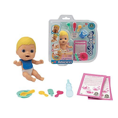 Cicciobello Amicicci, Baby con set pasto e accessori, modelli casuali, giocattolo per bambini dai 3 anni, CC001, CC001000