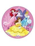 Dekora 114377 Disney Prinzessinnen Tortenaufleger aus Esspapier, Rosa, 20 cm