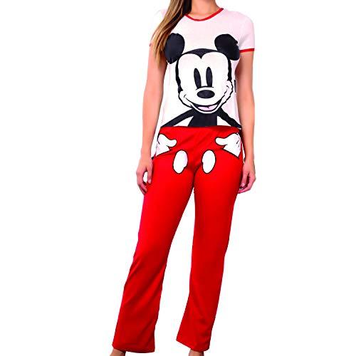 9255 Pijama para Mujer Disney Mickey Mouse Blusa Y Pantalon Dama (Med)