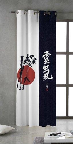TSUKI NAGASAKI Cortina confeccionada con Ojales metálicos 150 x 260 Zen, Chillout, japonesa