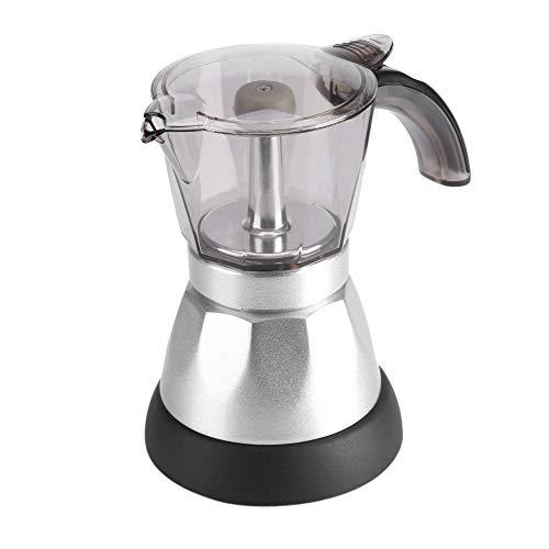 Cafetera de contenedor transparente, cafetera eléctrica fácil de limpiar, 480W 220V 300ML / 6 tazas para regalos en casa