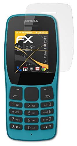 atFolix Panzerfolie kompatibel mit Nokia 110 2019 Schutzfolie, entspiegelnde & stoßdämpfende FX Folie (3X)
