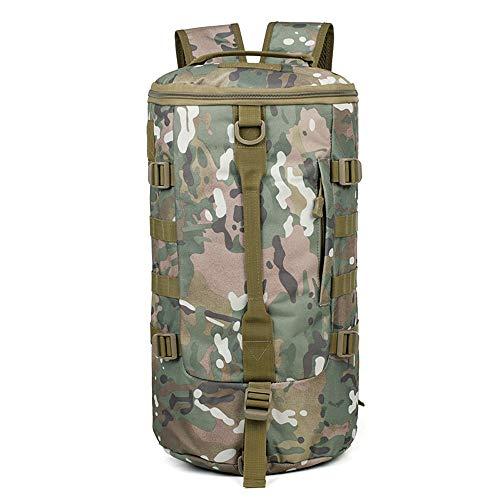 Shabnbhaczsjianbb Zaini Gli Uomini di Grande capacità di Duffel Bag, Zaino Uomini della Tela Vintage, Camouflage all'aperto Escursionismo Bag, Multi-Funzione di Borsa a Tracolla Bucket Bag