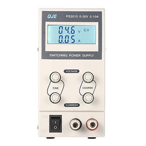 KKmoon 0-30V 0-5A 3 Fuente de Alimentación Dígitos Variable Digital Regulado Dc Traspuesta Ajustable Salida Voltaje Corriente Lcd Monitor Ue Enchufe