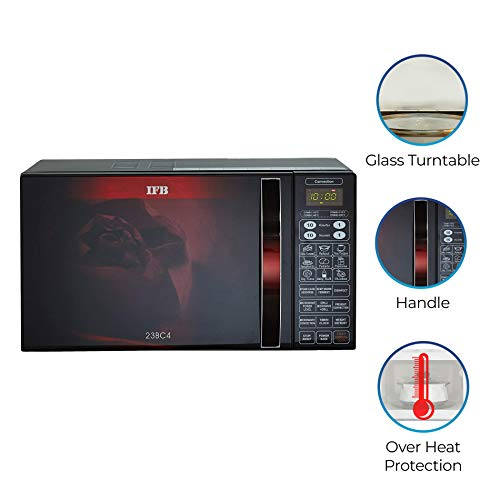 IFB 23 L Convection Microwave Oven (23BC4, Black,Floral Design, With Starter Kit)