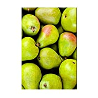 緑の梨フルーツフードウォールアートポスターHdプリントキャンバス絵画ホームリビングルーム寝室アートワークギフト装飾写真-50x75CMフレームなし