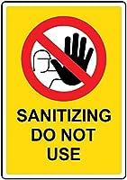 注意サイン-消毒は使用しないでください。 通行の危険性屋外防水および防錆金属錫サイン