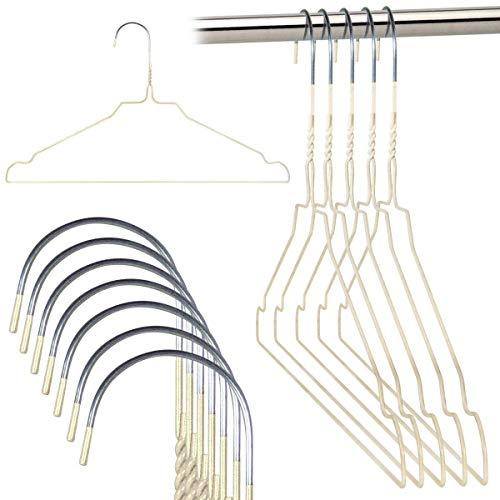 Grucce Rainbow Appendiabiti 40 cm Metallo Colorate Salvaspazio Casa Lavanderia Negozi Abbigliamento in Ferro (Bianco, 100)