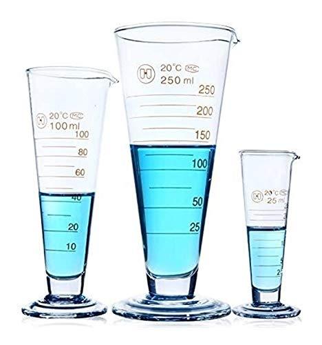 Afgestudeerd Conische Wide Mouth Kolf Erlenmeyer gemaakt van borosilicaatglas 3.3,25 ml, 100 ml, 250 ml