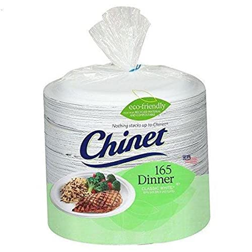 - Paper Dinner Plates - 165 ct, white color .10 pack