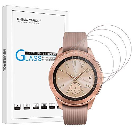 [4 stück] NEWZEROL Ersatz für Samsung Galaxy Watch 42 mm Panzerglas Schutzfolie, High-Definition Displayschutz Kratzfest Displayschutzfolie für Galaxy Watch 42mm -[Lebenslange Ersatzgarantie]