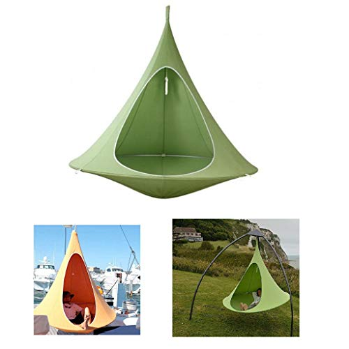 RIANZ Backyard & Park Swing Hammock,Hanging Tree Tent,Hanging Cocoon with Pocket,for Indoor and Outdoor Fun, Reading, Relaxation, Sensory and Autism Therapy