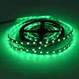 Ruban LED 5m 600led auto-adhésif lumière décorative Vert éclairage intérieur IP20 longueur 5m