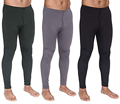 3-Pack: Men's Thermal Underwear Pants Set Warm Long Johns Compression Underpants Leggings Training Tights Active Clothing - Set 3, Medium