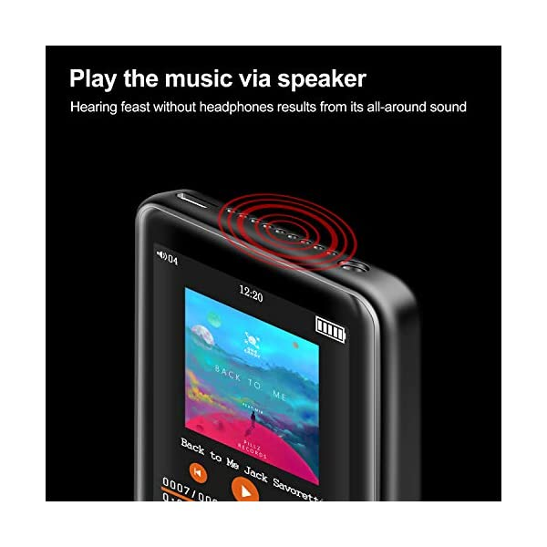 "MP3 Player, Searick 16G MP3 Player with Bluetooth 4.2, 2.4"" LCD Portable HiFi Lossless Sound Music MP3 Players with FM Radio/Voice Recorder, Support up to 128GB (Headphone, Armband, Lanyard Included) 6"