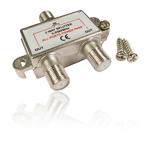 Répartiteur coaxial 2F connecteur femelle Câble satellite Virgin Media TV numérique