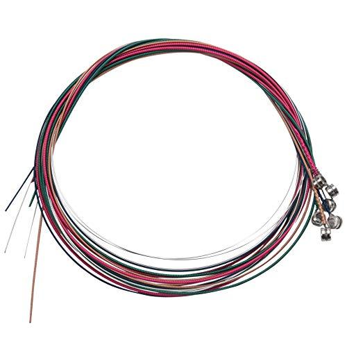 TIZZY 6X Saiten Gitarrensaiten Akustikgitarre Farbig Stahl