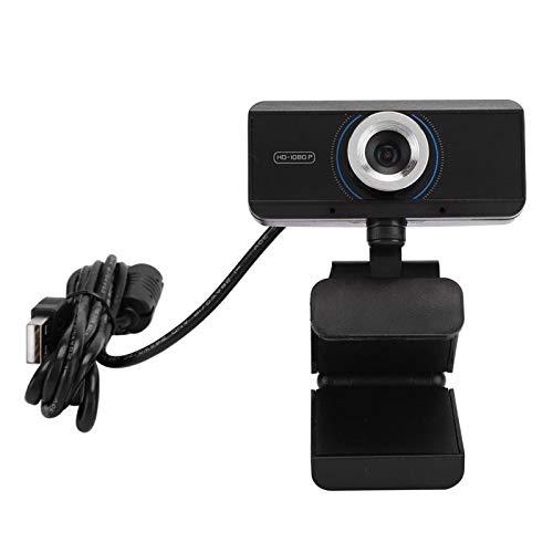 Shipenophy Cámara 1080P Cámara de computadora precisa Accesorios de computadora de Moda Cámara de computadora giratoria para Smart TV para Video reunión remota