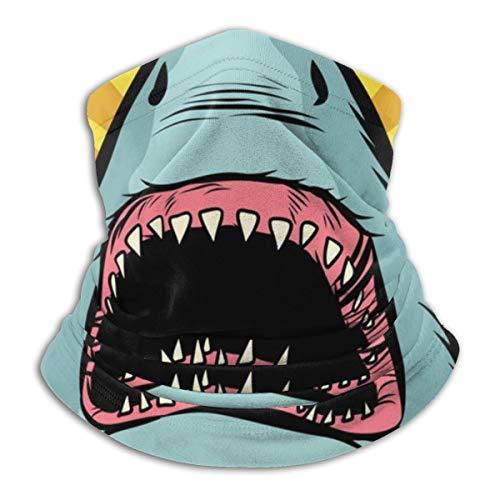 SARA NELL Neck Gaiter,Shark Ocean Predator Marine Fish Neck Gaiter Face Bandana Mask Scarf Magic Headwear Multifunctional Sport Tube Headband Headwrap For Men And Women