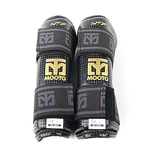 MOOTO Taekwondo Extera Forearm Protector Black/White WTF Approved TKD Martial Arts MMA Kick Boxing (2.Black, 2.S(4.39-4.98ft or 134-152cm))