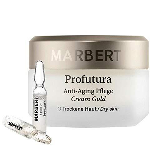 Marbert Profutura Anti-Aging Pflege Cream Gold 50 ml + 2 Nachtampullen je 1,5 ml