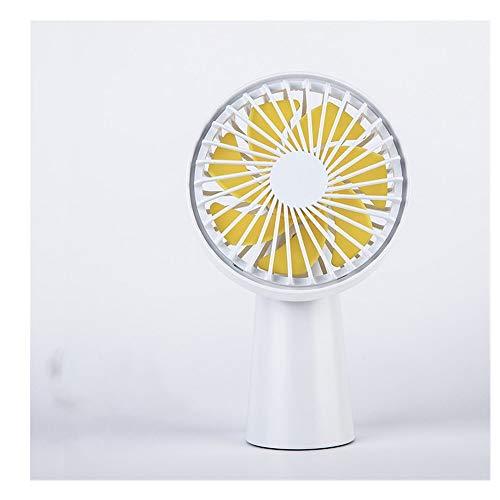 LRZLZY Mini Ventilador USB de Carga del Ventilador de Mano eléctrico pequeño Viento Grande al Aire silencioso Ventilador de Escritorio portátil el Descanso (Color : White, Size : 9 * 6 * 14)