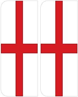 2x Inglaterra ST GEORGE BANDERA Europa coche número placa adhesiva pegatinas de vinilo por inspirado paredes®