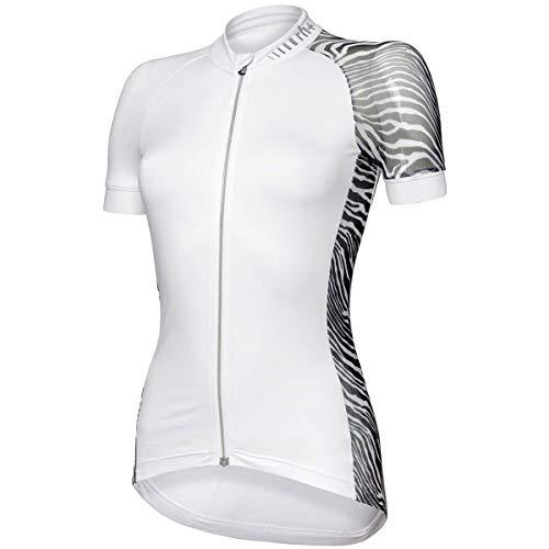 rh+ Elite Evo - Camiseta de ciclismo para mujer, color blanco, talla M