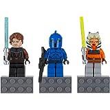 LEGO Anakin Skywalker, Ahsoka Tano, and Senate Commando Star Wars Magnet Set