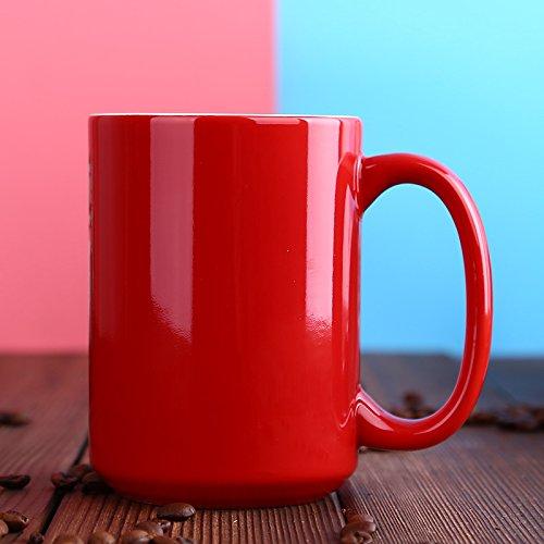 Btftkjbf Eine Tasse Heißen Kaffee Tasse Werbe Tasse Rot 420 Ml Wasser Glas Keramik Exportieren