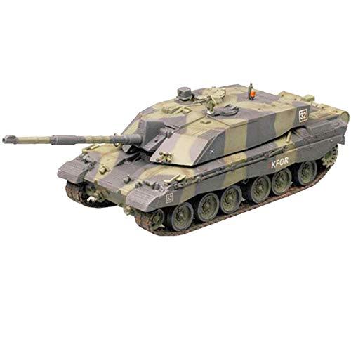 LHJCN Modello in plastica di carro Armato pressofuso in Scala 1/72, carro Armato da Battaglia Principale Challenger 2 KFOR carro Armato dell'Esercito Britannico, Giocattoli e Regali Militari, 5 po
