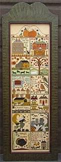 Autumn At Hawk Run Hollow Cross Stitch Chart and Free Embellishment