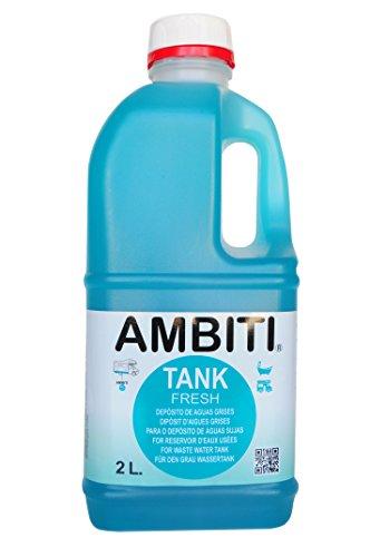 Ambiti Tank Fresh, 2 litros, Aditivo para el depósito de Aguas Grises, Ducha, fregaderos y desagües.