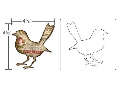 Sizzix vogel silhouet van Tim Holtz Bigz stans, plastic/hout/staal, meerkleurig, 17,4 x 14 x 1,9 cm