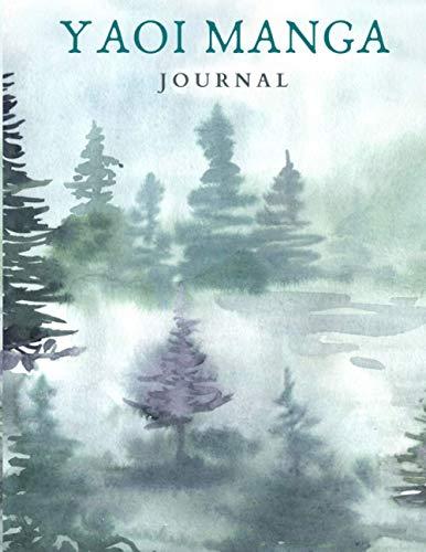 "YAOI MANGA JOURNAL: 8.5x11"" Forest Watercolor Journal"