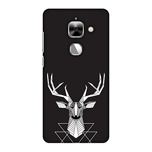 AMZER Slim Fit Handcrafted Designer Printed Snap On Hard Shell Case Back Cover for Leeco Le Max 2, Letv Le Max 2 - Geometric Deer HD Color, Ultra Light Back Case