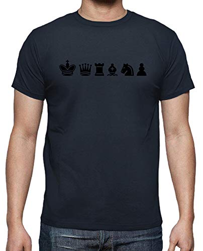 latostadora - Camiseta Deportes de Ajedrez para Hombre Azul Marino XL