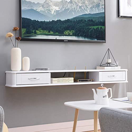 WWWANG Houten Plank muur bevestigde Kabinet van TV Wall Background opslag Rack Met dvd Satelliet-tv Kabelbox Drawer Floating (Color : B, Size : 100cm)