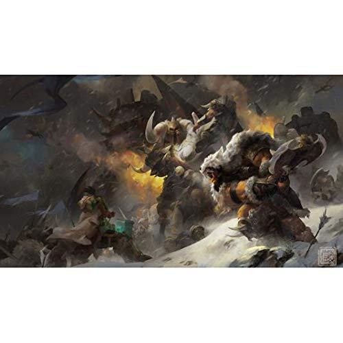Yizhi Puzzles Für Erwachsene 1000-teiliges World of Warcraft Warlords of Draenor Klassisches Puzzle(Size:1000 Stück)
