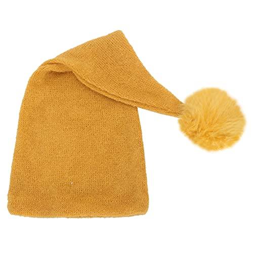 Sombrero De Punto para Bebés, Sombrero De Fotografía De Bebé Multiusos Amigable con La Piel para El Hogar para Fotografía(20 * 15 * 3cm-Amarillo)