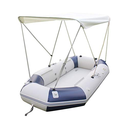 HAN XIU Bimini Boat Top Covers Waterproof Portable Top Cover with UV Protection, Folding Tent Awning 55 Inches for Fishing Boat, Rubber Boat, Inflatable Boat Top Boat Cover