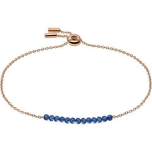 Fossil JF03651791 - Pulsera de acero inoxidable para mujer, color rosa, azul, 21,5 cm