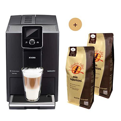 Nivona Kaffeevollautomat CafeRomatica NICR 820 Aktionsbundle mit 2 * 1 kg Kaffee/Espresso Mondo del Caffè