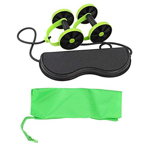Bauchtrainer AB Roller, Dual Exercise Wheel AB Wheel Fitness Bauchroller mit Komfortgriffen, Bauchmuskeltraining Workout Fitnessgerät Bauchtraining Muskelaufbau für Frauen Männer