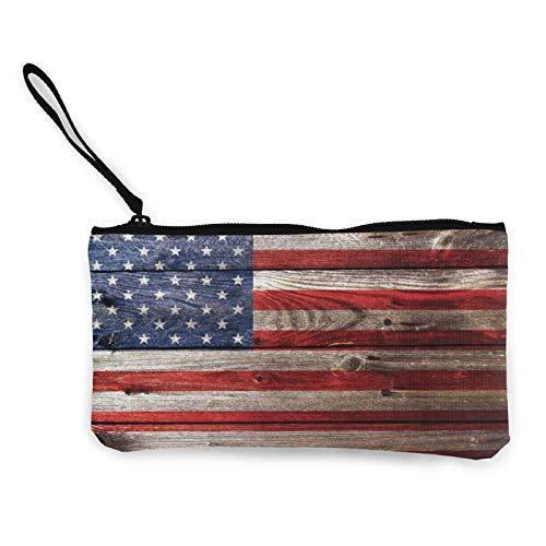 XCNGG Geldbörsen Shell Aufbewahrungstasche Vintage American Flag Coin Purse Canvas...