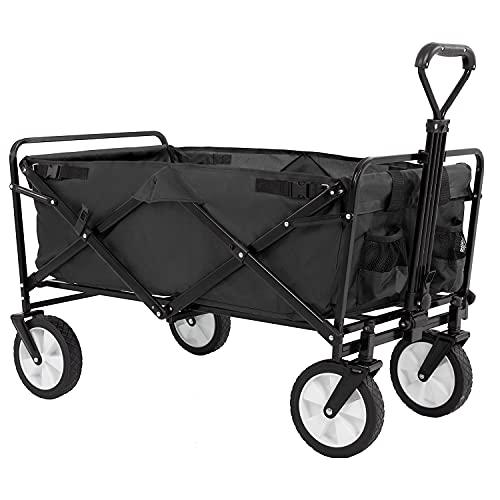 Collapsible Folding Wagon Garden Cart Beach Wagon Grocery Wagon All-Terrain...