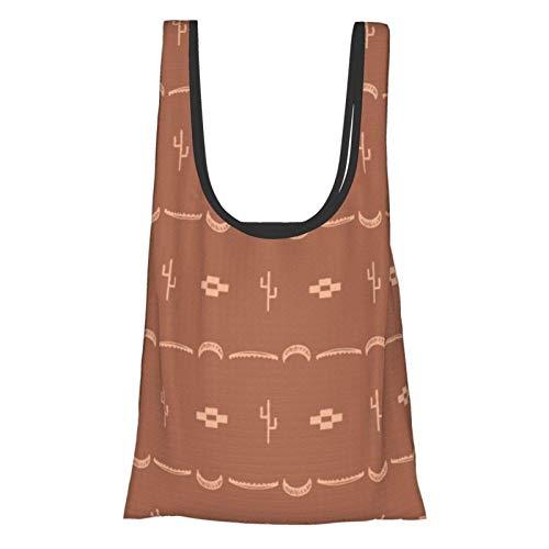 Adobe Kaktus-Muster Thema praktisch, modisch, wiederverwendbar, umweltfreundliche Einkaufstasche.