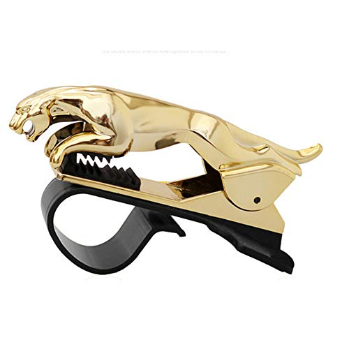 Banma Tech Car Leopard Form Dashboard Phone Holder 360 Degree Phone Mount Stand Bracket-Best Xmas Gifts (Gold)