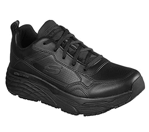 Skechers Men's Work Max Cushioning Elite SR - Derowen Sneaker, Black, 9